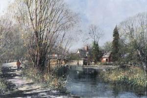 Flatford in the Autumn (Flatford Mill, Suffolk)