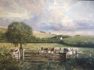 Cows & Sheep in a Field - SOLD