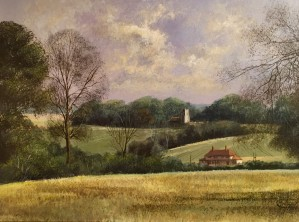 Nedging Church in a Landscape - SOLD