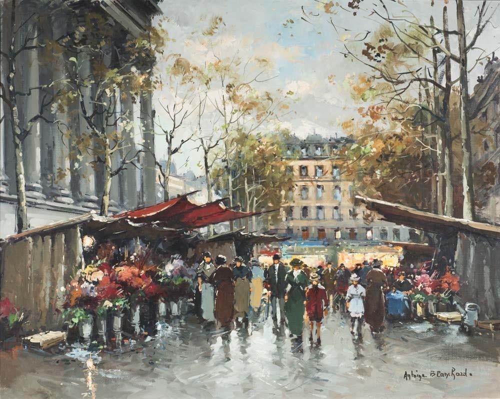 Flower Market at the Madelaine, Paris