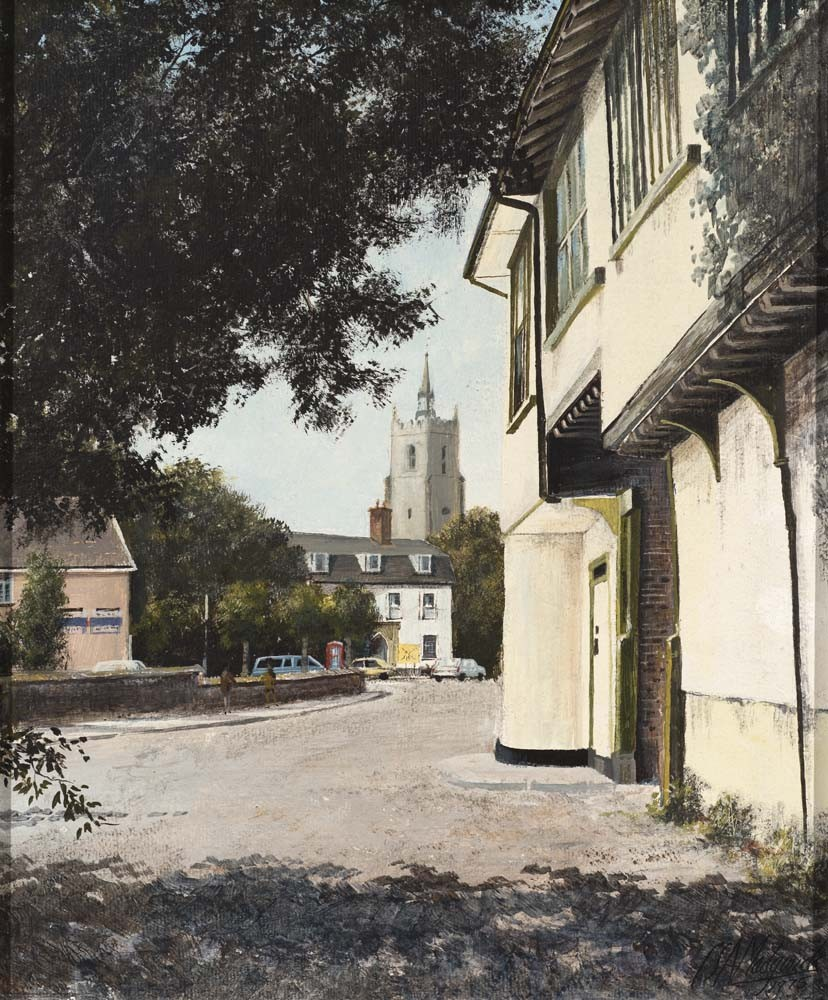 View of Boxford Village Church from Butcher's Lane, Suffolk - SOLD