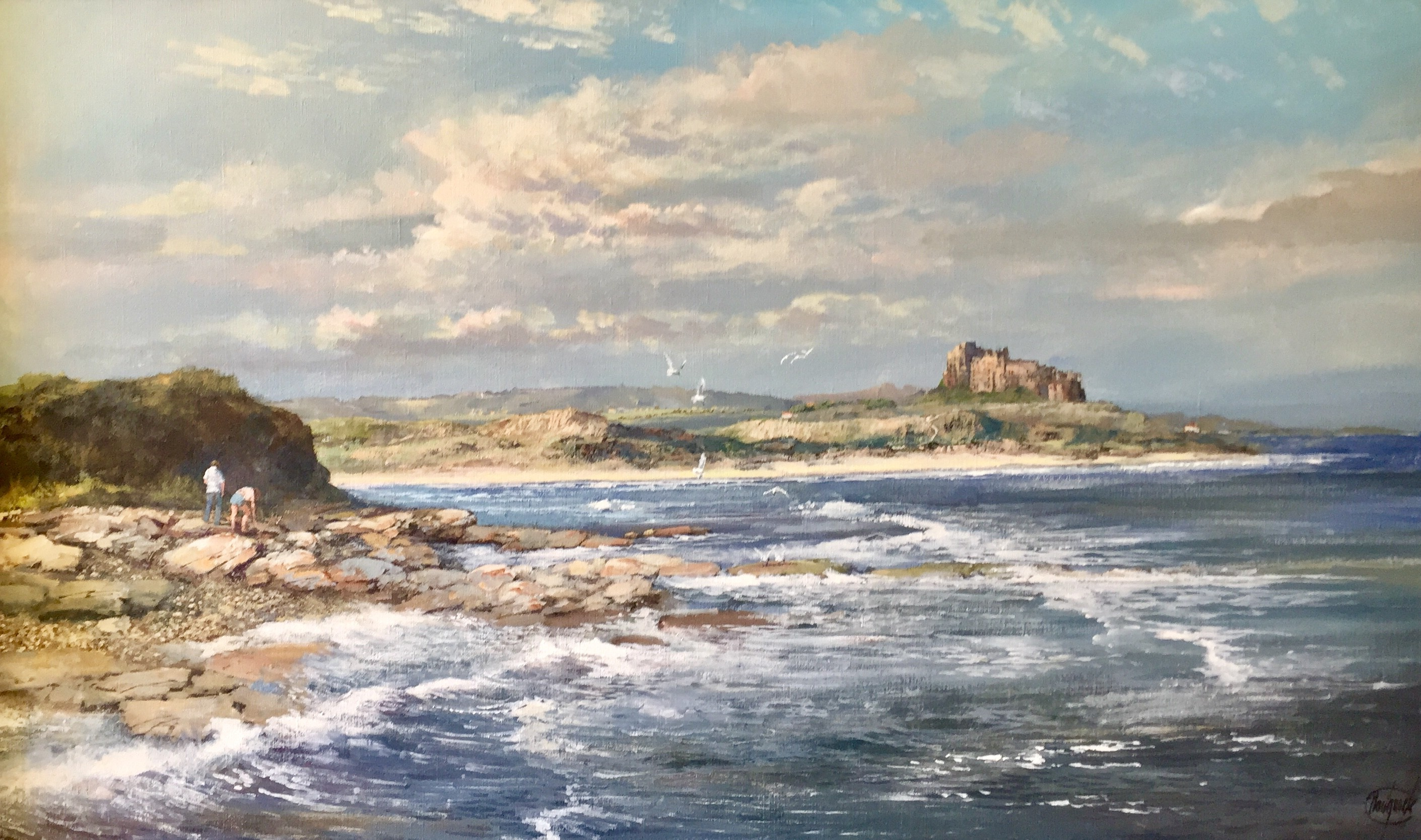 The Shore, Bamburgh Castle, Northumberland - SOLD
