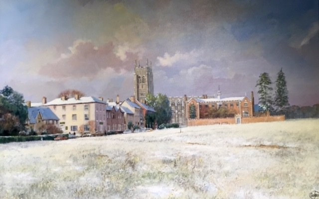 Long Melford Green in Winter - SOLD