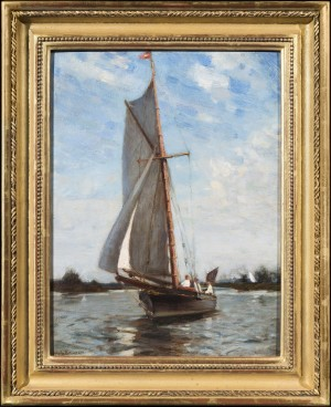 Sailing Boat on the Broads, Norfolk