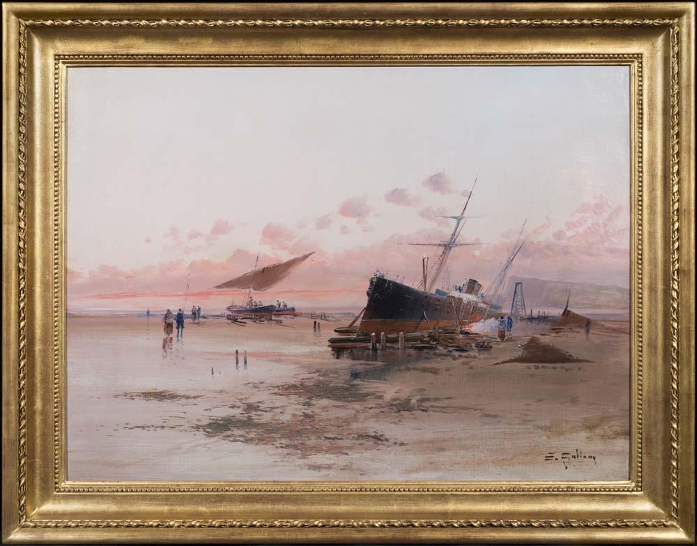 A Ship at the Sea Shore