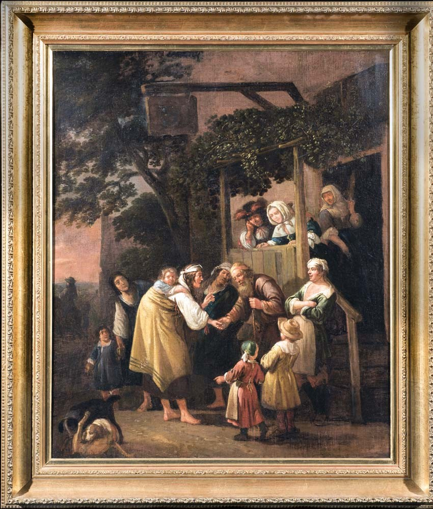 Figures outside a Tavern