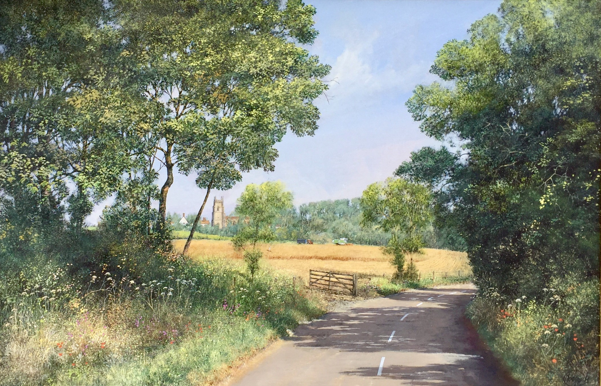 Harvest Time, Stoke by Nayland, Suffolk - SOLD