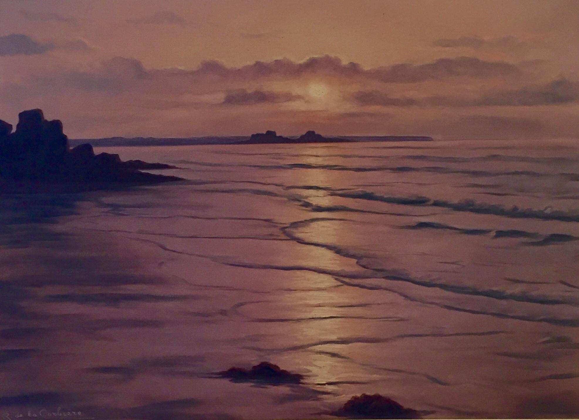 Moonlit Coastal Scene