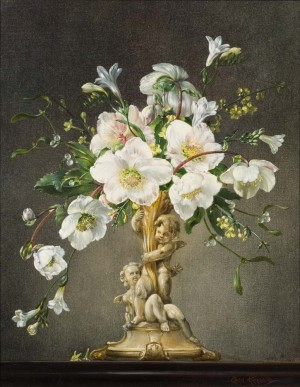Winter Roses with Freesias and Mistletoe