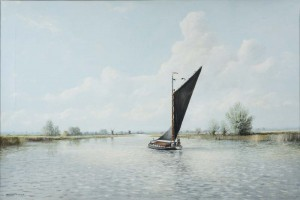 The Albion Wherry on the Broads, Norfolk