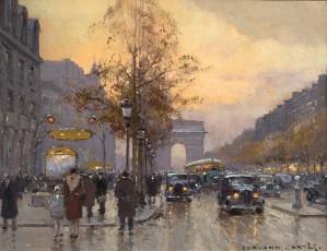 Champs Elysees & L'Arc de Triomphe vu de la station George V, Paris