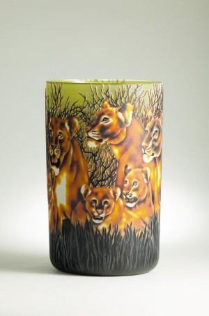 Lion Vase Dated 2010