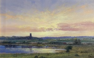 As the Sun Sets, Blythburgh, Suffolk - SOLD