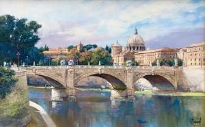 Ponte Victor Emanuelle & Vatican, Rome - SOLD