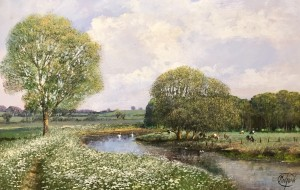 The River Stour near Bures - Suffolk - SOLD
