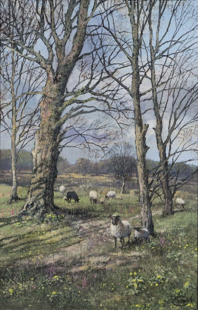Sheep under a Tree - SOLD