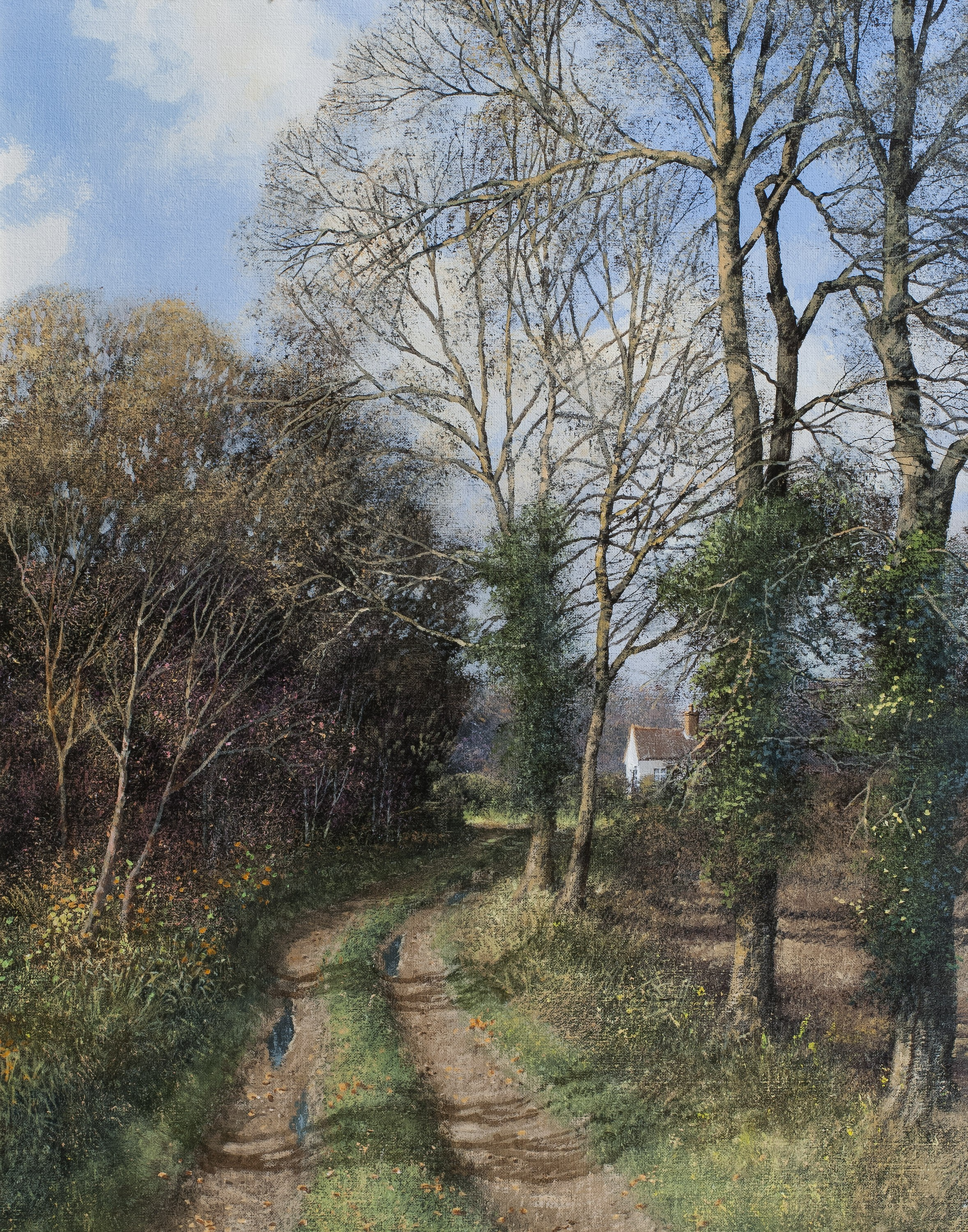 An Autumn Lane - SOLD