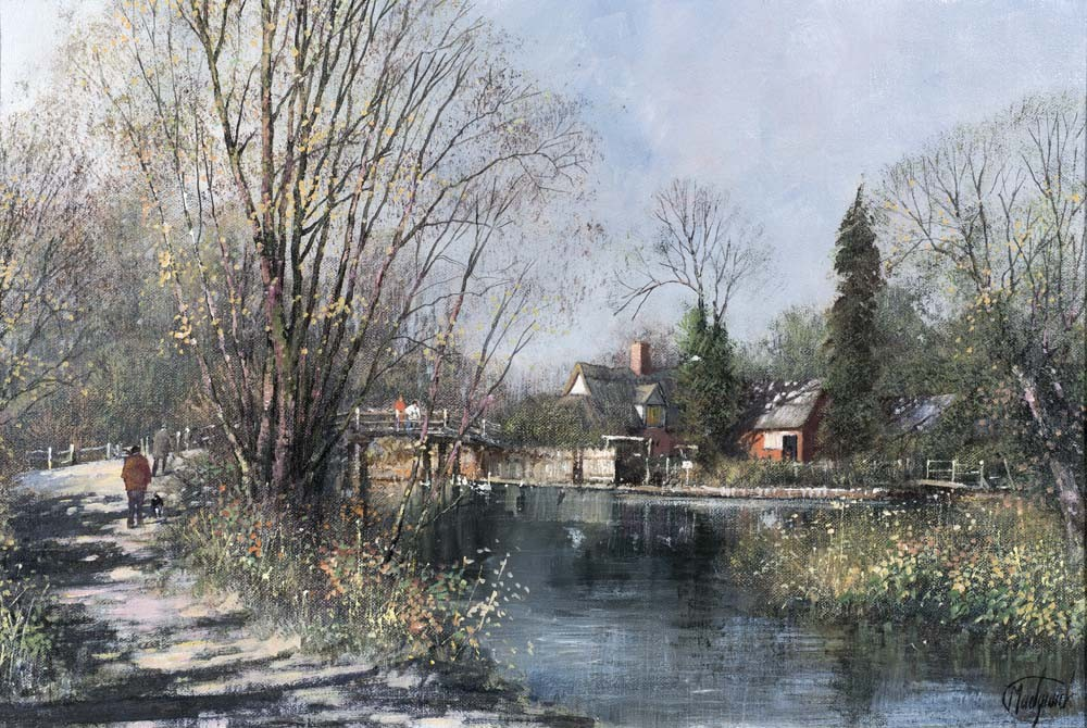 Flatford in the Autumn (Flatford Mill, Suffolk) - SOLD