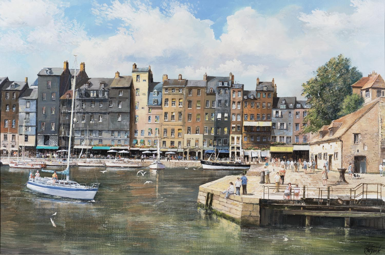 Honfleur Harbour, France - SOLD