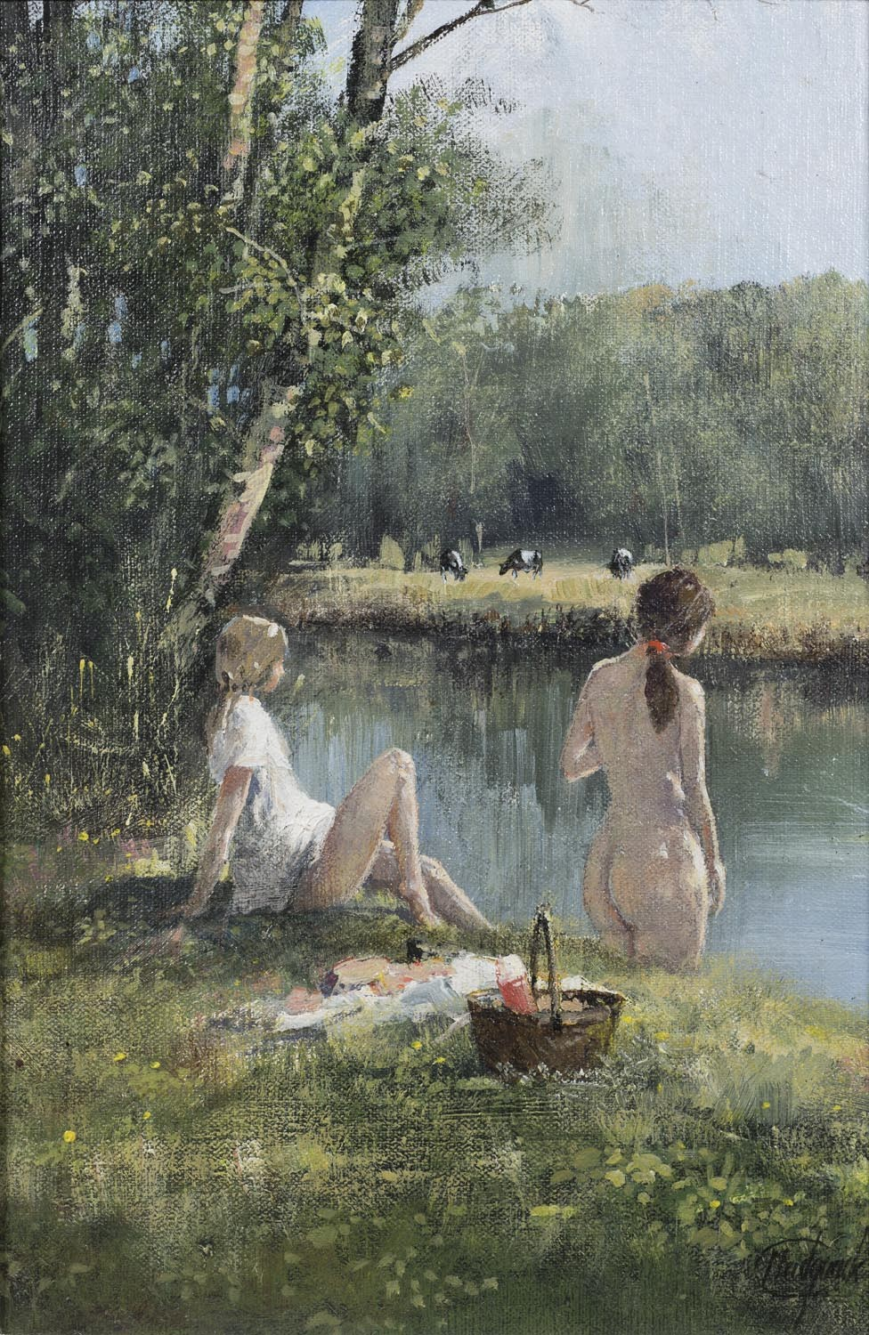 The Summer Swim & Picnic - SOLD