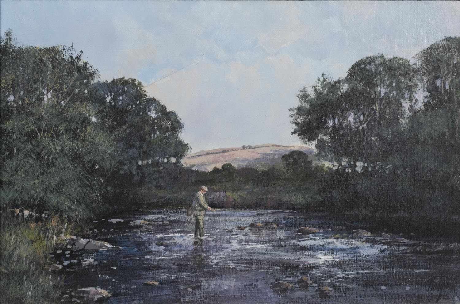 Salmon Fishing on the River Tweed - SOLD