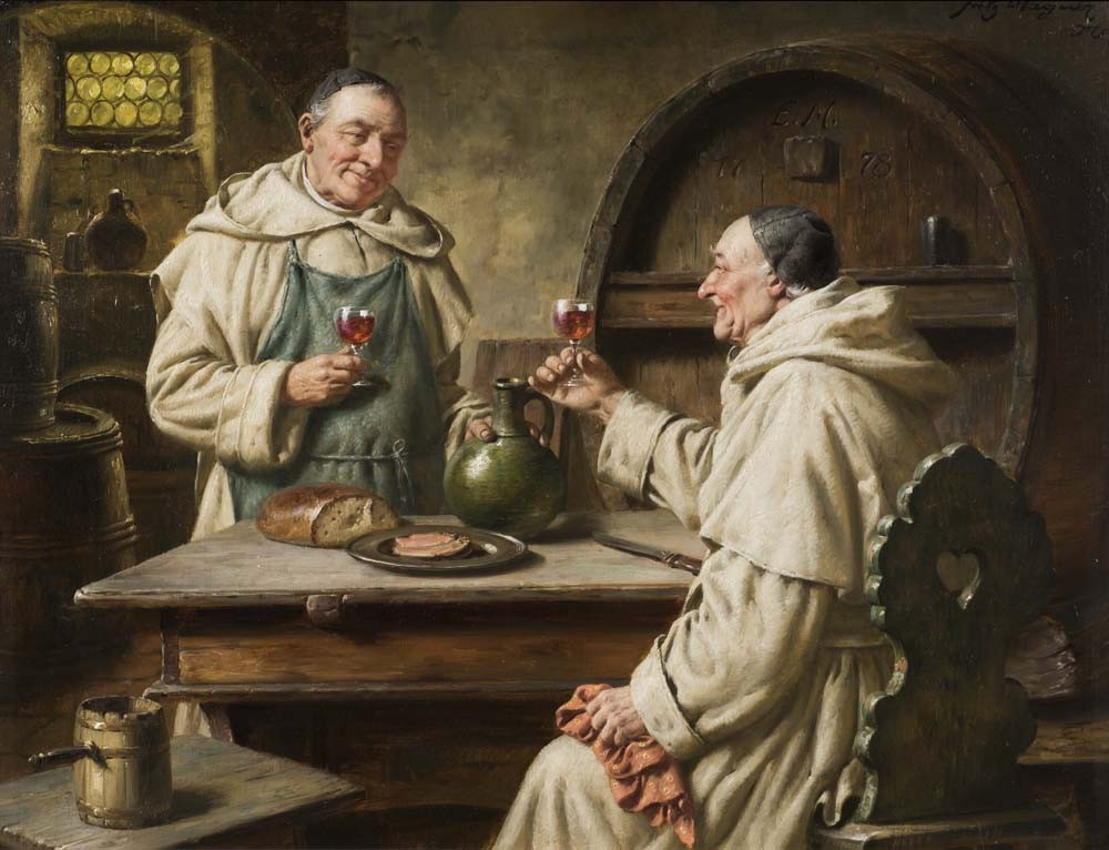 Zwei monche bei der vesper (Two monks in the vespers)