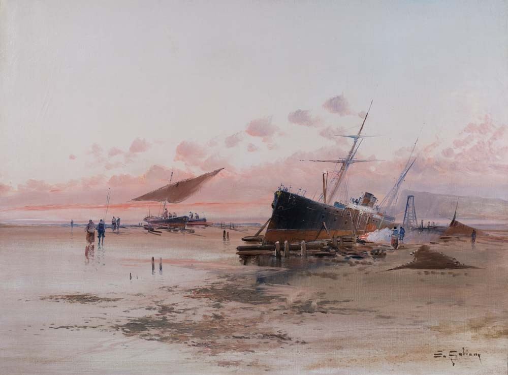 A Ship at the Sea Shore