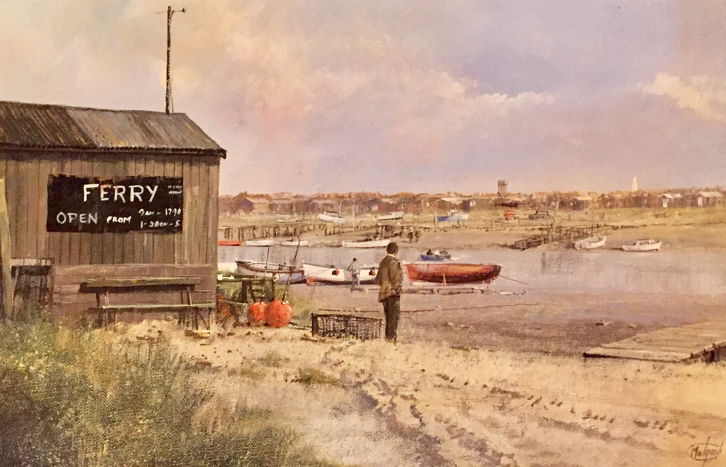 Ferry at Walberswick - SOLD