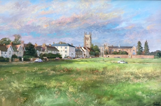 The Green & Holy Trinity Church, Long Melford, Suffolk - SOLD