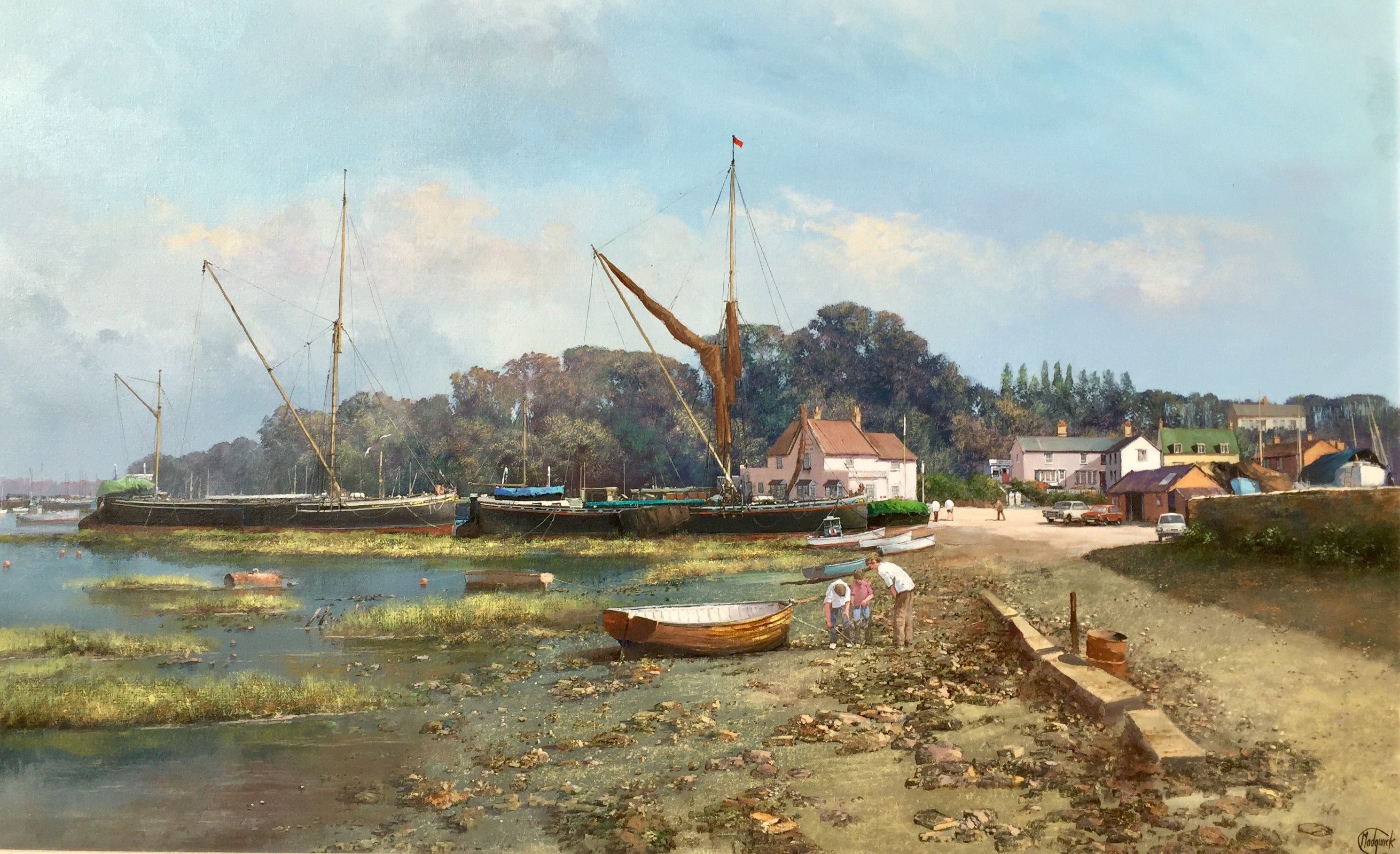 Low Tide at Pin Mill, Suffolk - SOLD