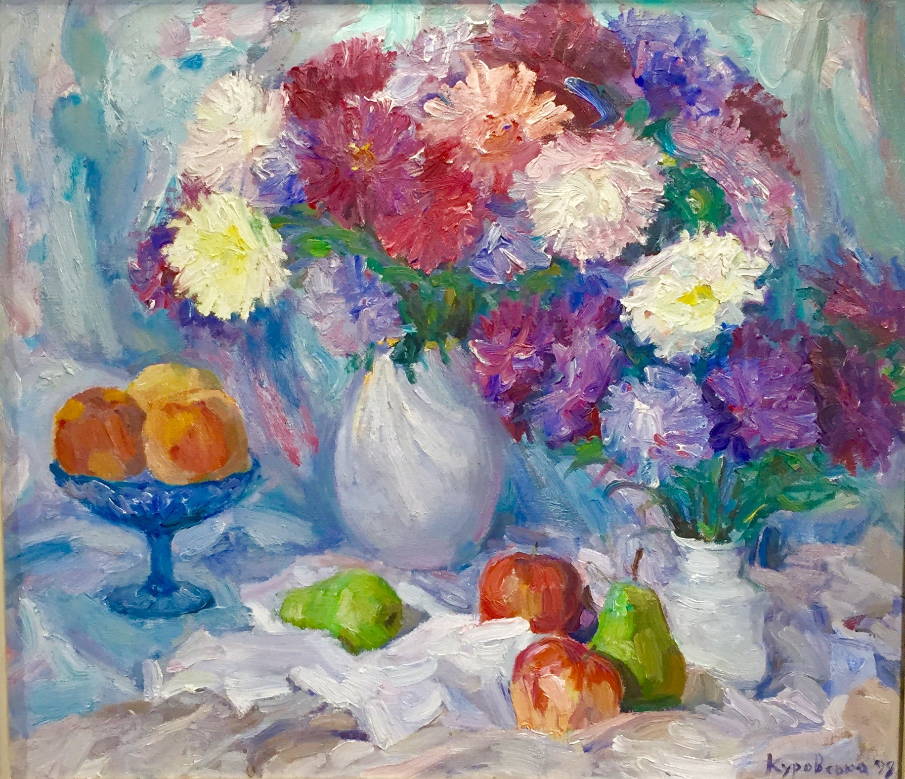 Still life of Chrysanthemums