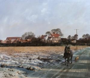 Winter Landscape, Suffolk - SOLD