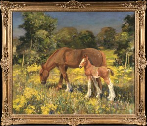 Horses in a Norfolk Landscape