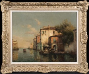 A Gondolier on a Venetian Backwater