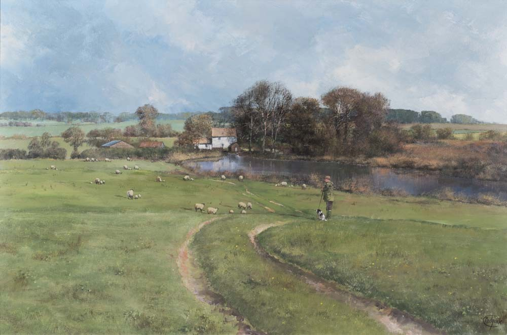 Shepherd by a River - SOLD