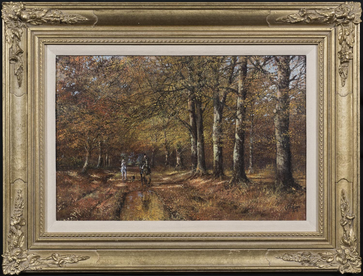 Horse Riders in the Autumn - SOLD