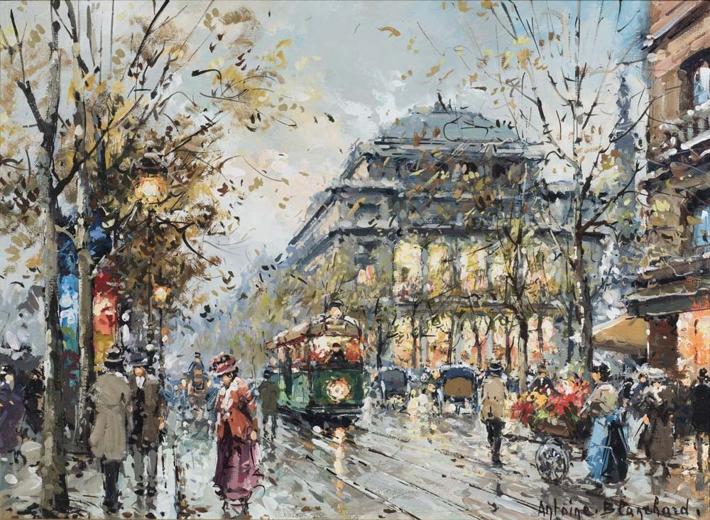 Quai des Gresvres le Theatre du Chatel, Paris - SOLD