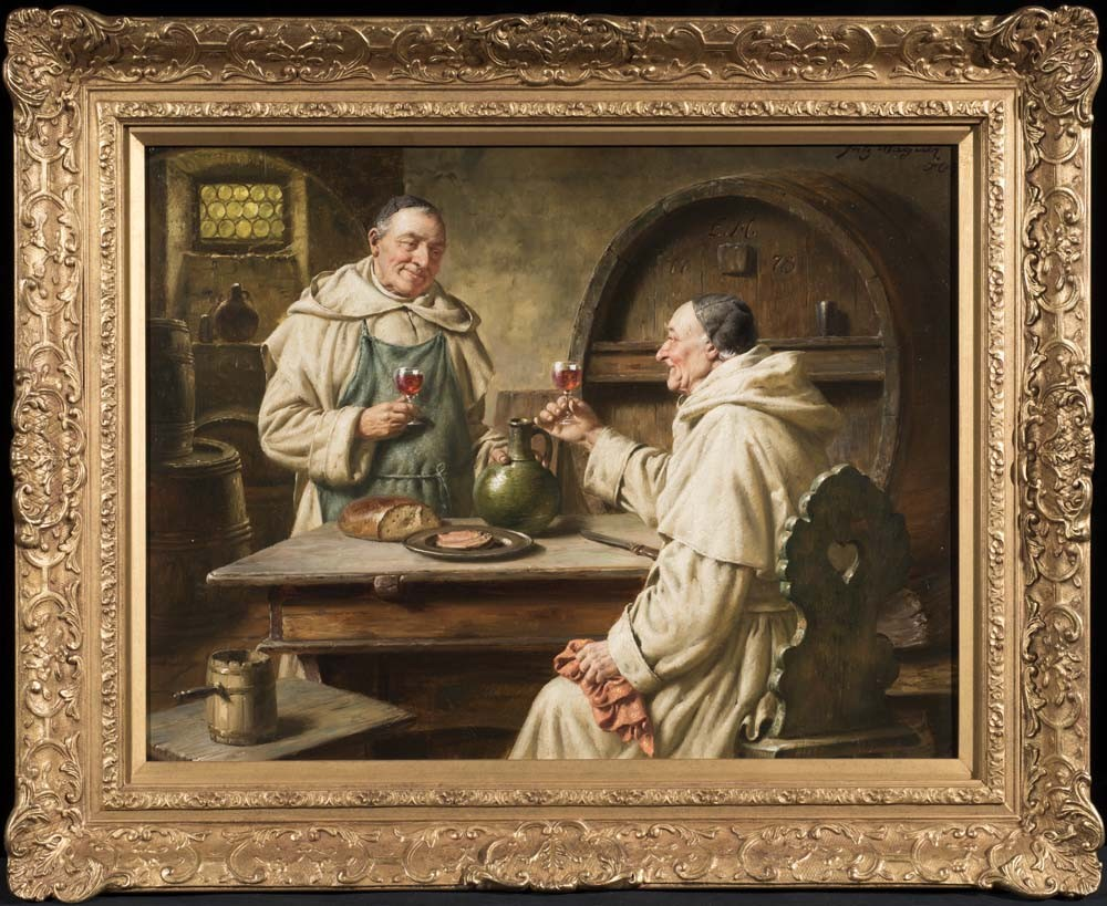 Zwei monche bei der vesper (Two monks in the vespers) - SOLD