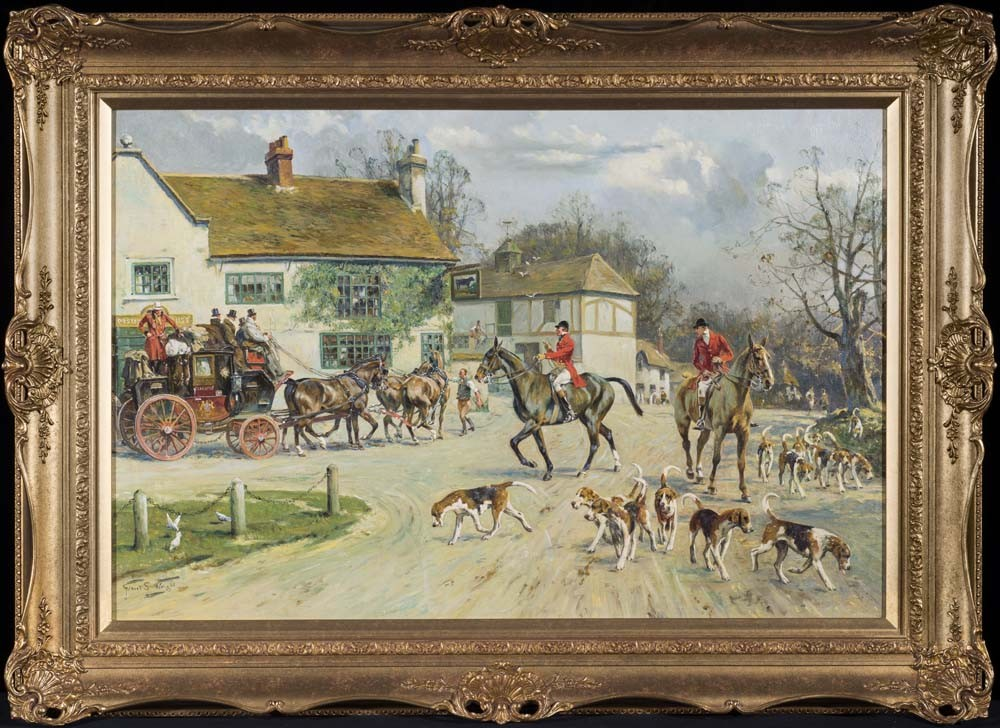 The Hunt outside the Old Bull Inn
