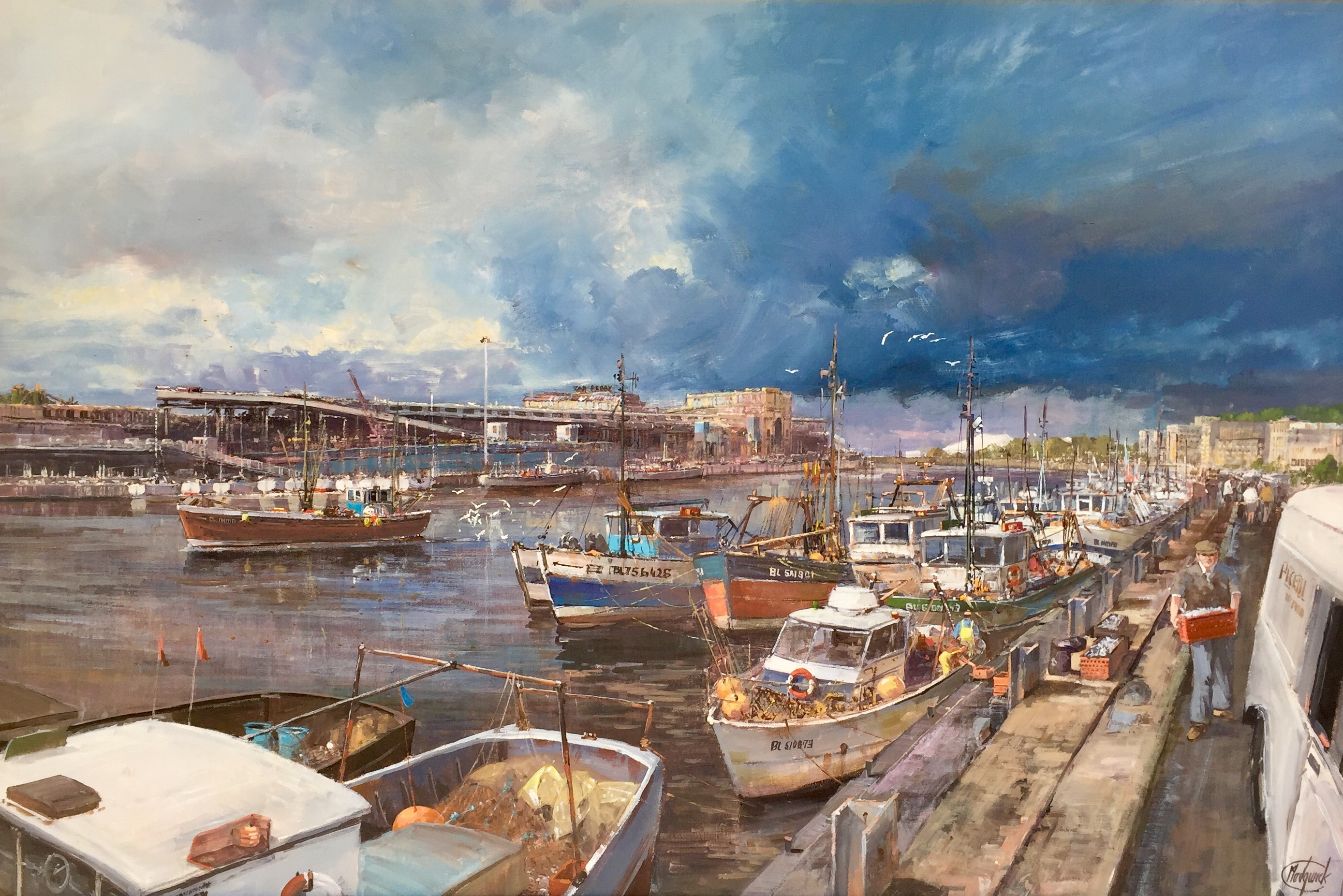 Boulogne Harbour - SOLD