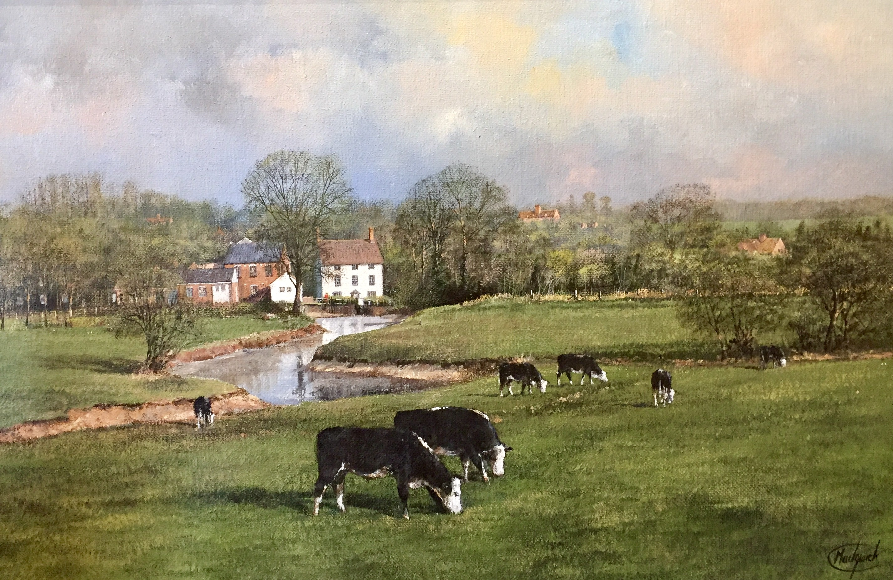 Layham Mill & The River Brett, Suffolk - SOLD