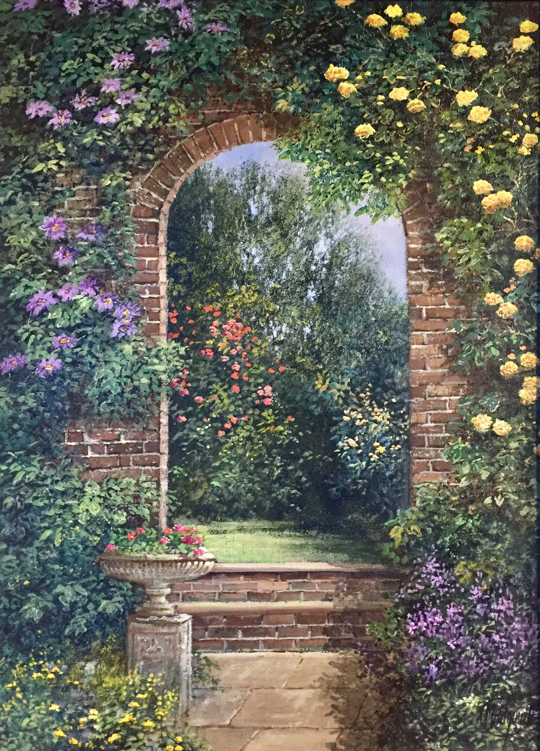 Into the Summer Garden - SOLD