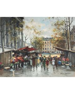 Flower Market at the Madelaine, Paris - SOLD