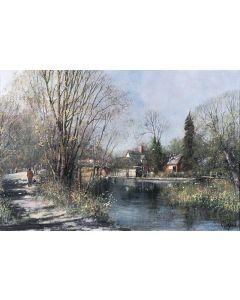 Flatford in the Autumn (Flatford Mill, Suffolk) - SOLD