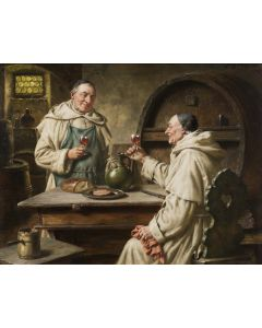 Zwei monche bei der vesper (Two monks in the vespers) - SOLD