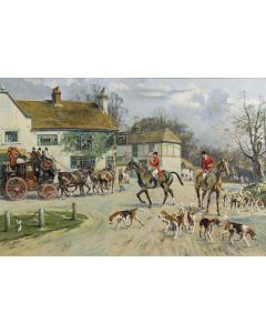 The Hunt outside the Old Bull Inn