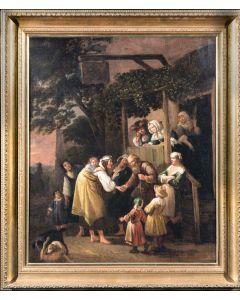 Figures outside a Tavern
