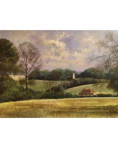 Nedging Church in a Landscape - SOLD